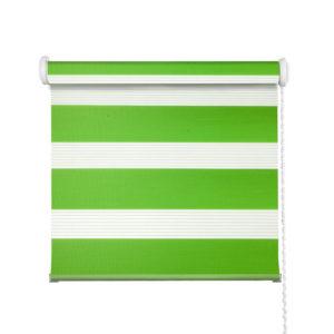 klasyczna roleta typu dzień i noc w kolorze zielonym