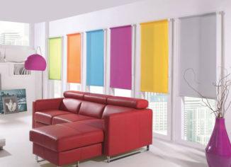 rolety materiałowe w różnych kolorach